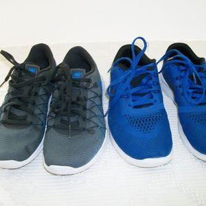 Nike Shoes - Nike Shoes Blue Gray Black Size 4 (2 Pairs)